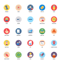 Wifi connection flat icons pack vector