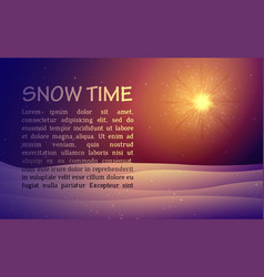 winter night background with snow vector image