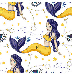 zodiac girl sign vector image