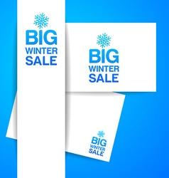 big winter sale vector image vector image