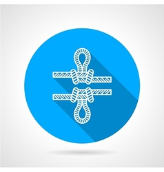 Flat color icon for rope knot vector image