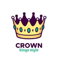 golden crown icon or logo design vector image vector image