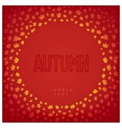 Greeting autumn card vector