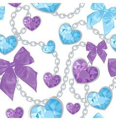 Shiny ruby heart pendants vector image