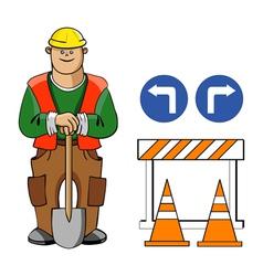 worker vector image vector image