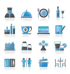 cafe and bar icon vector image vector image