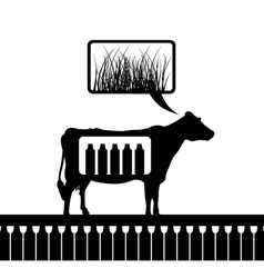 cow thinks vector image vector image