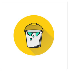 Paint bucket icon on white background vector