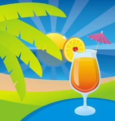 tequila sunrise vector image vector image