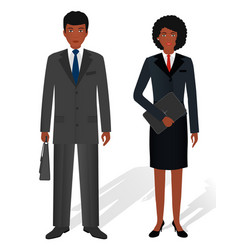 couple of business african american man and woman vector image vector image