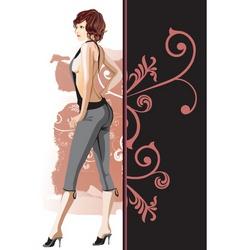girl illustration vector image