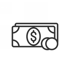 Money outline icon vector image