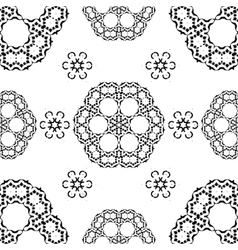 Seamless White and Black traditional vector image