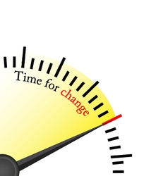 time for change speedmetter vector image vector image