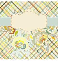 Vintage floral background EPS 8 vector image vector image