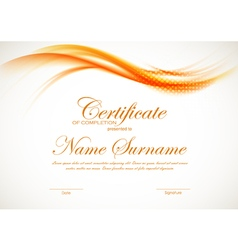 Certificate of completion template vector