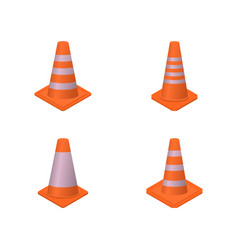 cone sign road repair isometric style vector image
