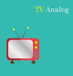cute retro tv old tv cartoon style vector image