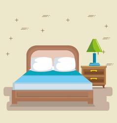 elegant bedroom scene classic vector image