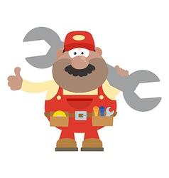 Happy Mechanic Cartoon Giving Thumbs Up vector image