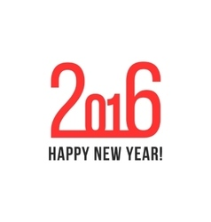 happy new year with red numbers vector image vector image
