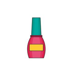 nail polish flat icon vector image vector image