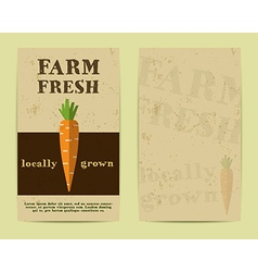 Stylish Farm Fresh flyer template or brochure vector image vector image
