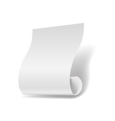 white paper sheet 3d realistic page or manuscript vector image vector image