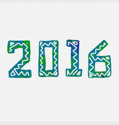 2016 grunge stamp new year sign vector image