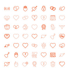 49 passion icons vector image