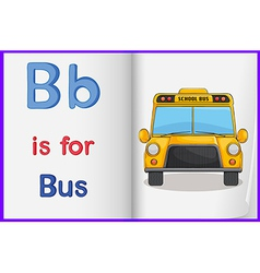 A picture of bus in book vector