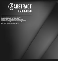 abstract background of black origami paper vector image