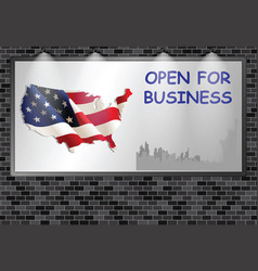advertising billboard uk open for business vector image