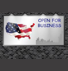 Advertising billboard uk open for business vector