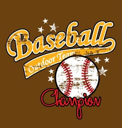 Baseball vector image