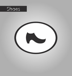 Black and white style icon women boot vector