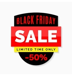 Black Friday sale banner Black red and yellow vector image