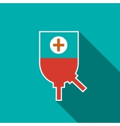 Blood donation icon flat style vector image