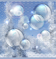Blue abstract bubbles background vector image