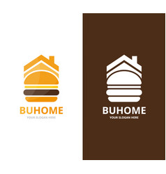 burger and real estate logo combination vector image