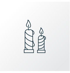 candles icon line symbol premium quality isolated vector image
