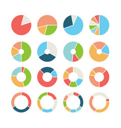 Circle section round chart wheel circular hub vector