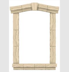 classic antique arch vector image