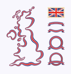 Colors of United Kingdom vector image