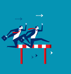 competition business people running and jumping vector image