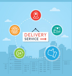concept delivery service vector image