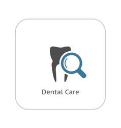Dental Care Icon Flat Design vector image