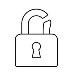 Design padlock and crack icon set of vector