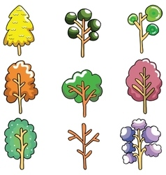Doodle of unique tree collection vector image