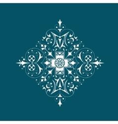Elegant floral ornament vector